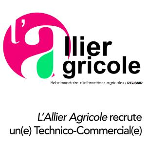 L'Allier Agricole recrute un(e) Technico-Commercial(e)