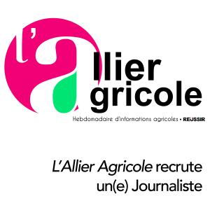 L'Allier Agricole recrute un(e) Journaliste