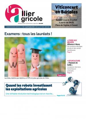 La couverture du journal L'Allier Agricole n°1312 | mars 2021