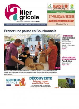La couverture du journal L'Allier Agricole n°1186 | septembre 2018