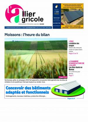 La couverture du journal L'Allier Agricole n°1238 | septembre 2019
