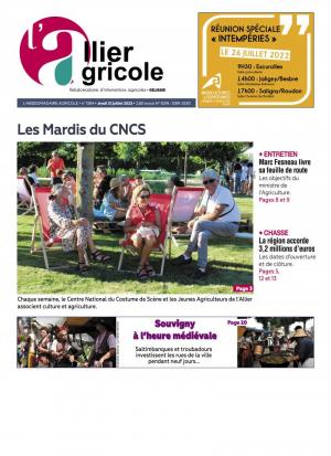 La couverture du journal L'Allier Agricole n°1255 |  0000