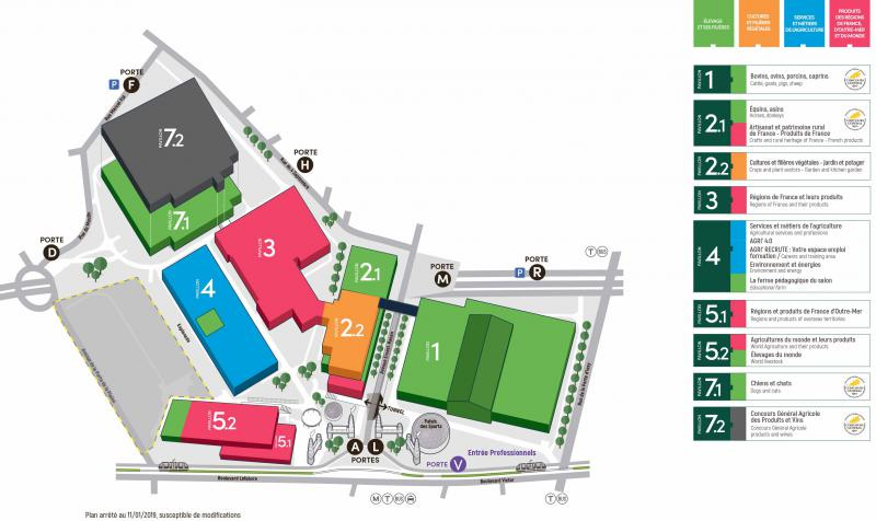 Plan d'accès au Salon international de l'agriculture.